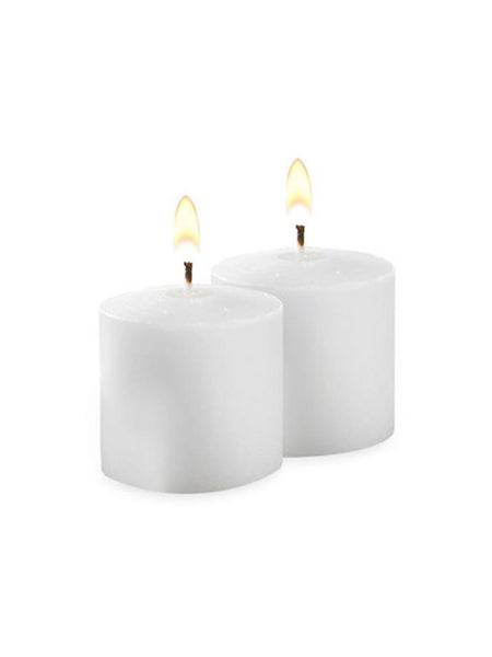 10 Hour Unscented Votive Candles White