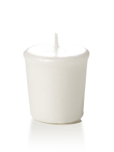 15 Hour Pearlescent Votive Candles White
