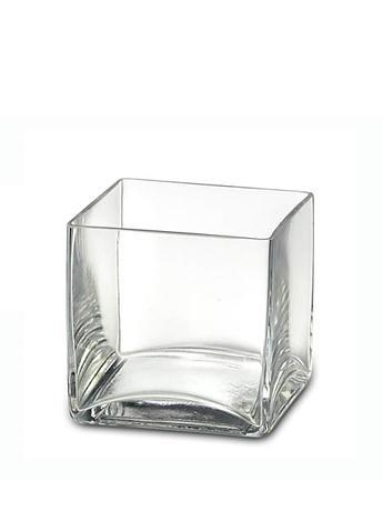 "5"" x 5"" - Large Deco Cube Candle Holder"