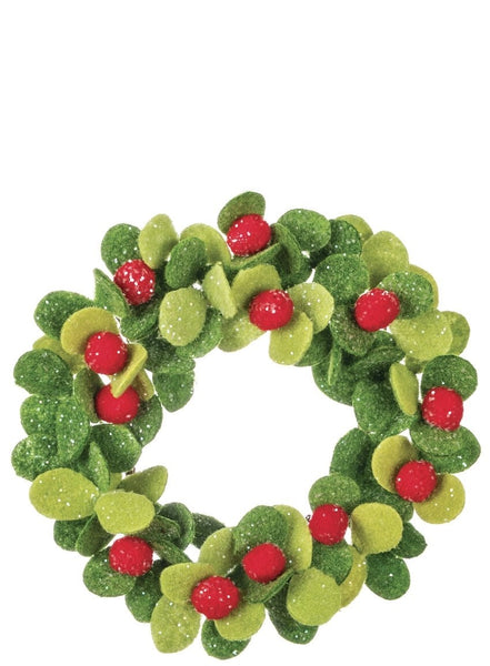 3.5in MISTLETOE PLASTIC ACCENT RING