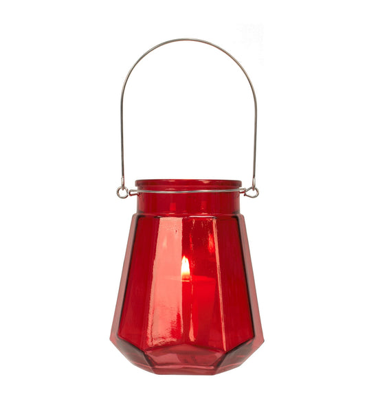 LANTERN.HANDLE-RED 6in