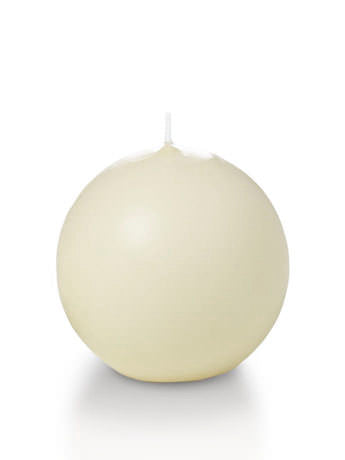 Ivory 2.8 inch Sphere/Ball candles