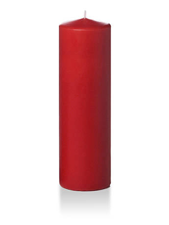 Ruby red 10 inch Pillar Candles