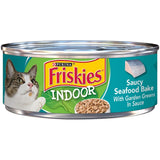 Friskies Selects Indoor Saucy Seafood Bake Canned Cat Food