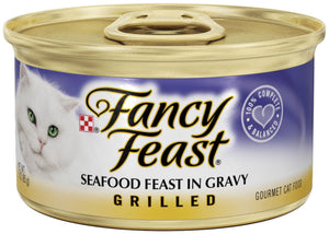 Fancy Feast Grilled Seafood Feast in Gravy Cat Food Canned