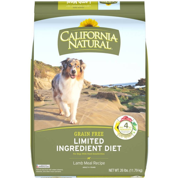 California Natural Limited Ingredient Diet Grain Free Lamb Meal Formula Adult Dry Dog Food