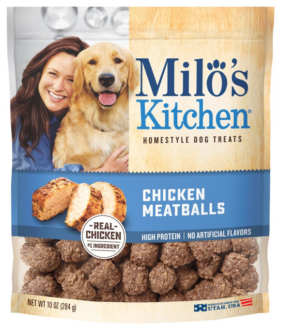 Milo's Kitchen Chicken Meatballs Dog Treats