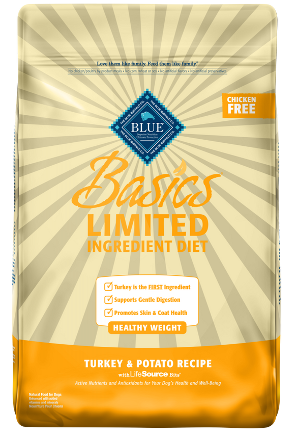 Blue Buffalo Basics Healthy Weight Adult Turkey & Potato Recipe Dry Dog Food