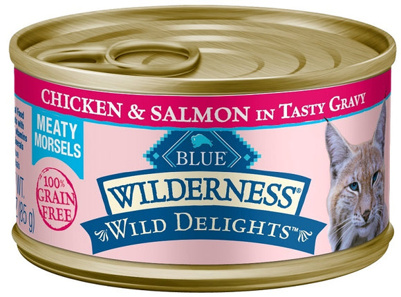 Blue Buffalo Wilderness Wild Delights Chicken and Salmon Canned Cat Food