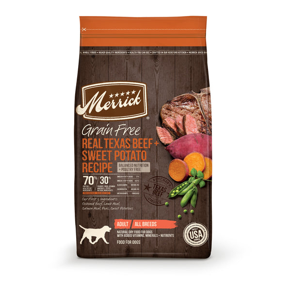 Merrick Grain Free Real Texas Beef and Sweet Potato Dry Dog Food