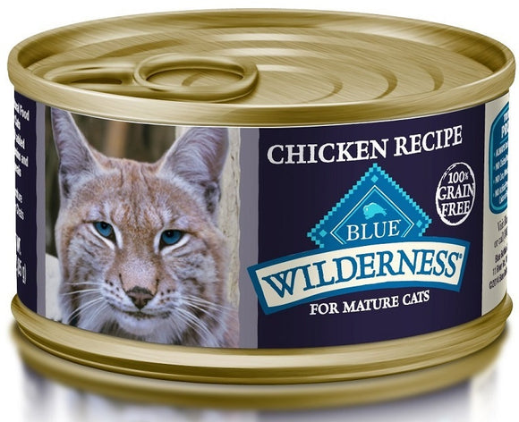Blue Buffalo Wilderness Grain Free Mature Recipe Canned Cat Food