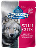 Blue Buffalo Wilderness Wild Cuts Trail Toppers Chunky Salmon Bites in Hearty Gravy Dog Food Pouch