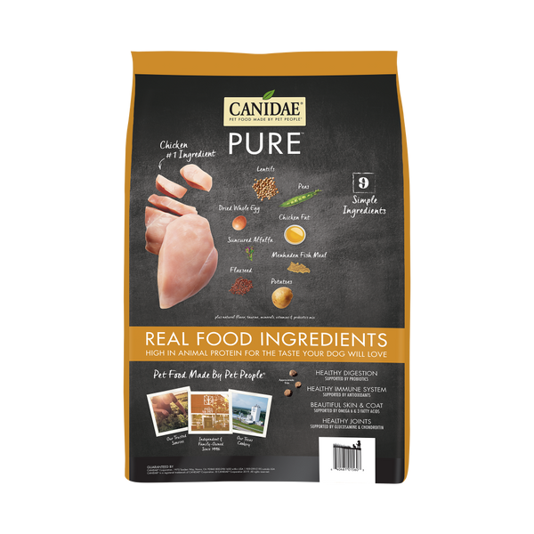 Canidae Grain Free PURE  Chicken, Lentil & Whole Egg Recipe Dry Dog Food