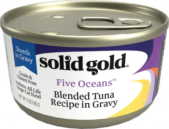Solid Gold Five Oceans Grain Free Blended Tuna in Gravy Recipe Canned Cat Food