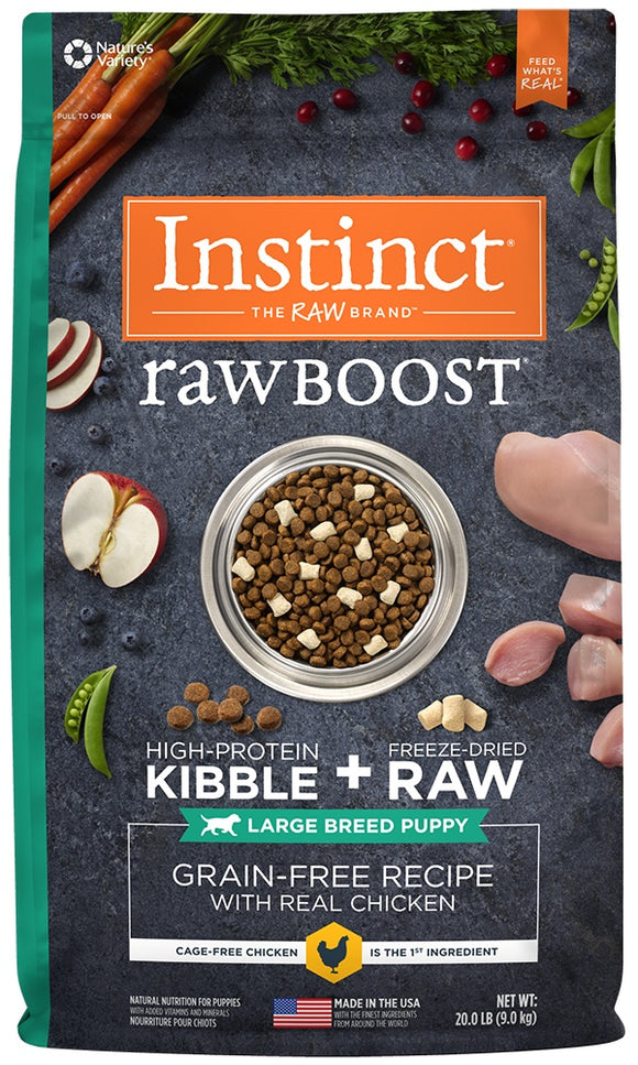 Instinct Raw Boost Grain Free Large Breed Puppy Chicken Meal Formula Dry Dog Food