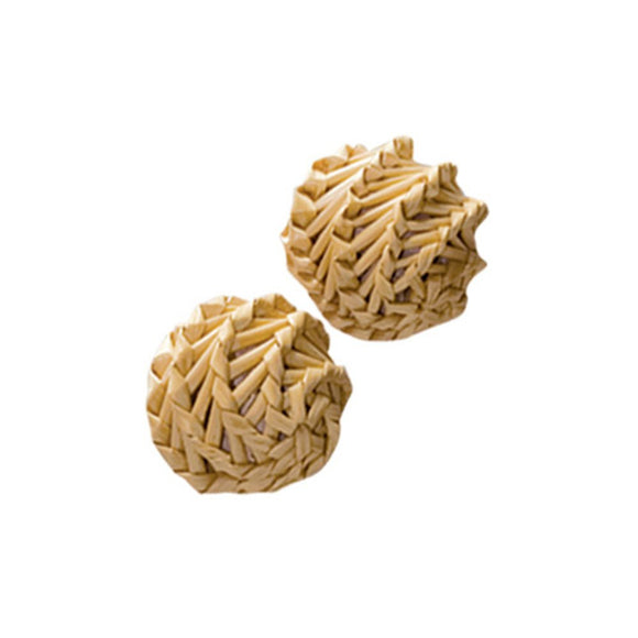 KONG Naturals Straw Balls 2-Pack Cat Toy