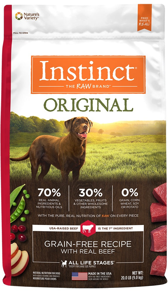 Nature's Variety Instinct Original Grain Free Recipe with Real Beef Natural Dry Dog Food