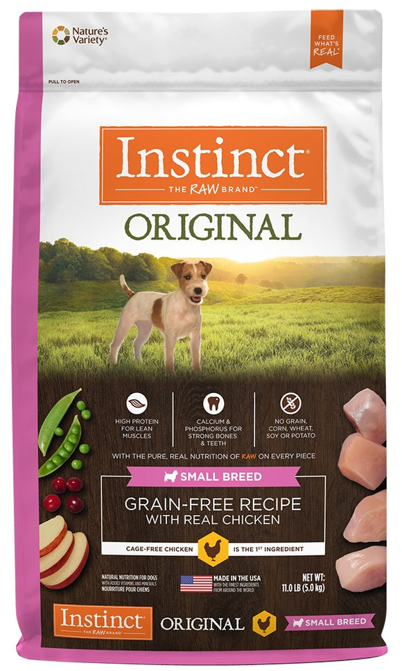 Nature's Variety Instinct Original Small Breed Grain Free Recipe with Real Chicken Natural Dry Dog Food