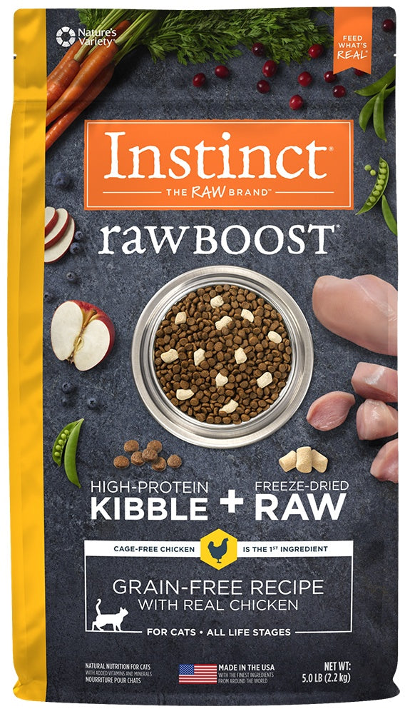 Nature's Variety Instinct Raw Boost Grain Free Recipe with Real Chicken Natural Dry Cat Food