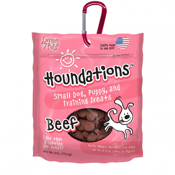 Loving Pets Houndations Grain Free Beef Training Dog Treats
