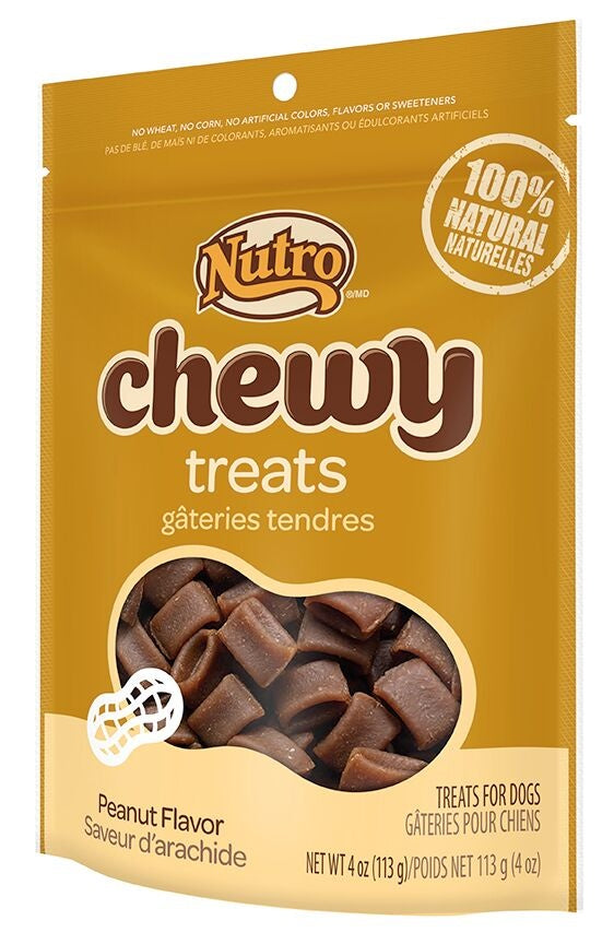 Nutro Chewy Peanut Flavor Natural Dog Treats