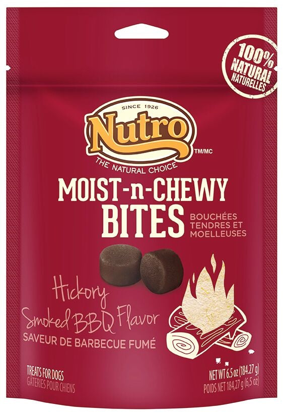 Nutro Moist-n-Chewy Bites Hickory Smoked BBQ Flavor Dog Treats
