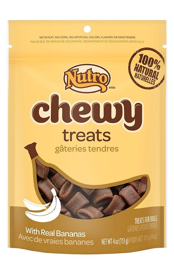 Nutro Chewy Treats With Real Bananas Natural Dog Treats