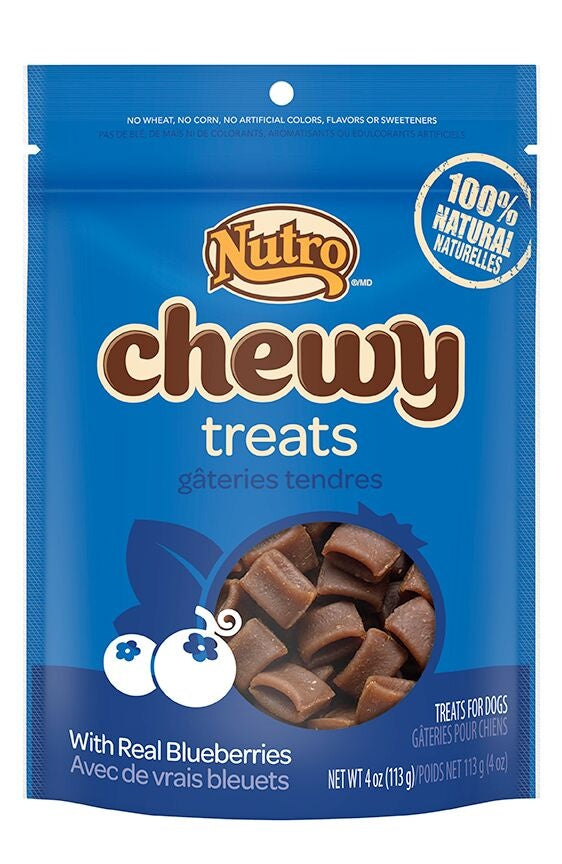 Nutro Chewy Treats With Real Blueberries Natural Dog Treats