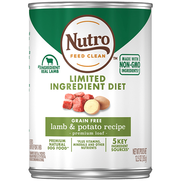 Nutro Limited Ingredient Diet Grain Free Lamb & Potato Pate Canned Dog Food