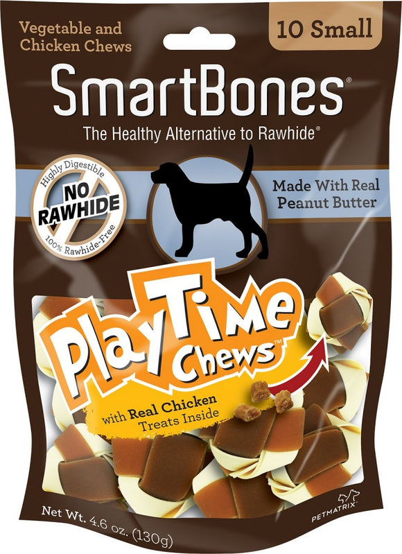 SmartBones PlayTime Small Peanut Butter Chews Dog Treats