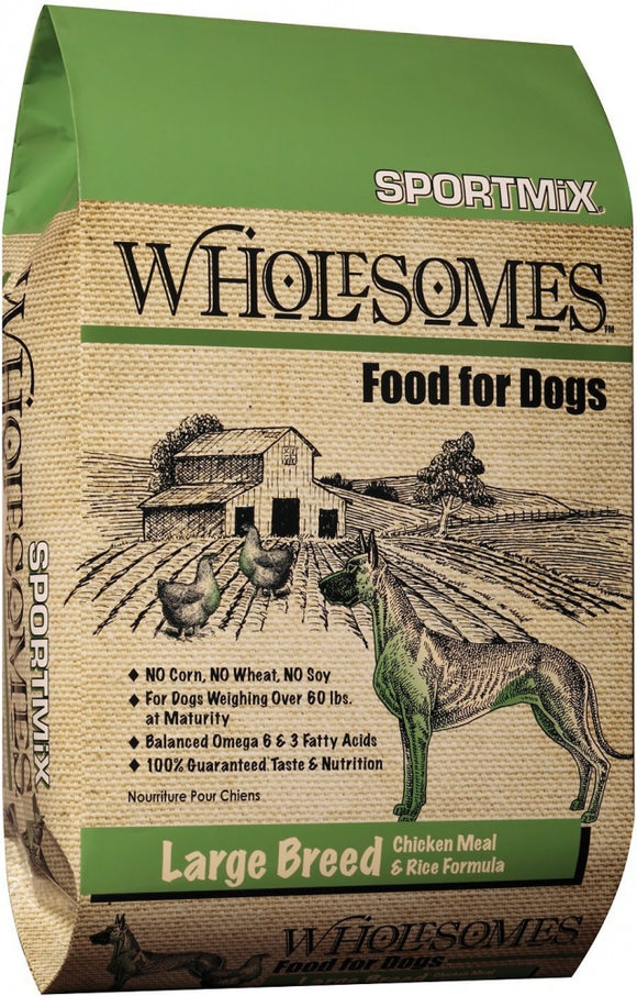 SPORTMiX Wholesomes Large Breed Chicken Meal & Rice Recipe Dry Dog Food