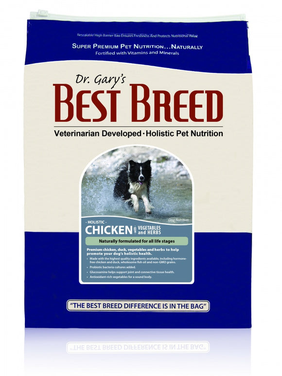 Dr. Gary's Best Breed Holistic Chicken with Vegetables & Herbs Dry Dog Food