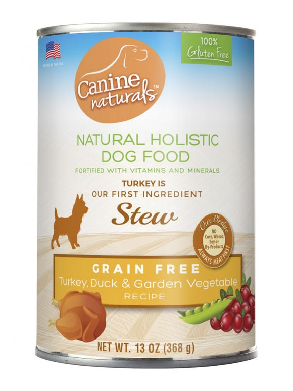 Canine Naturals Grain Free Turkey & Duck Garden Vegetable Stew Canned Dog Food