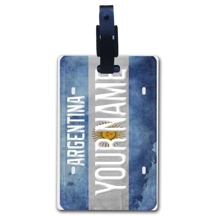 6e181995612c Personalize Your Own Country Flag License Plate Luggage Tag with Strap