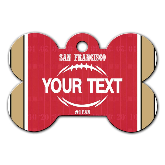 BRGiftShop Personalize Your Own Hockey Team Pittsburgh Bone Shaped Metal Pet ID Tag with Contact Information
