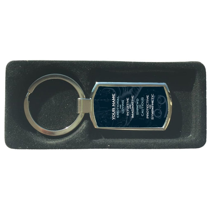 Personalize Your Own Zodiac Sign Metal Keychain