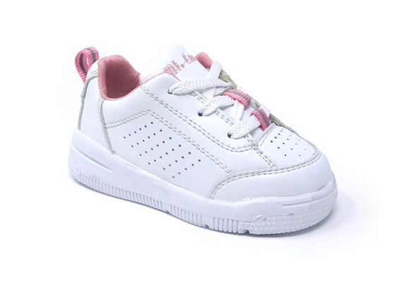 Mt. Emey 2327-L Pink - Toddler Orthopedic Shoes with Laces Pink Trim