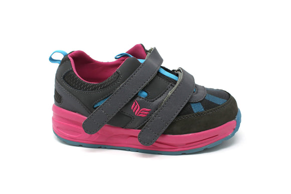 MT. Emey MTX16V Pink - Kids Extra Depth  Athletic Walking Shoes Hook and Loop
