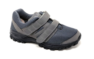 Mt. Emey 9704-V Gray - Men Athletic Mesh Hook and Loop Walking Shoes