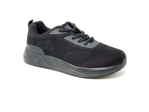 FITec 9710 Black - Men's Knitted Walking Comfort Shoe