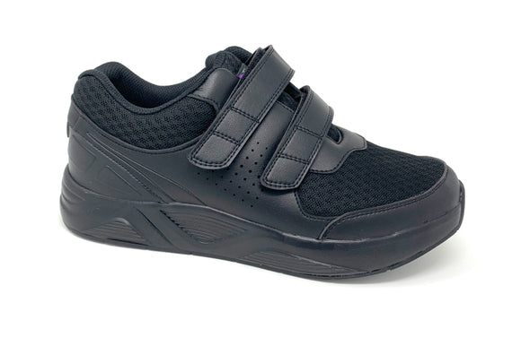 FITec 9721 Black - Men's Added-Depth Light Mesh Lace Walking Shoe