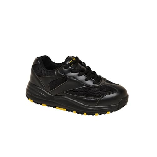 Mt. Emey 2151 Black - Children Oil/slip Resistant Sneakers With Laces - Shoes