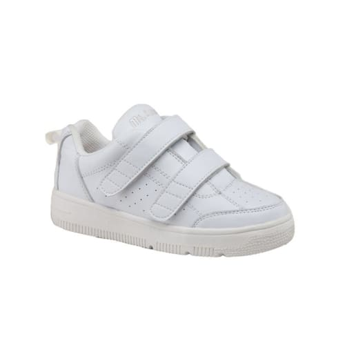 Mt. Emey 2603-V White - Children Straight Last Athletic Shoes With Elastic Laces - Shoes