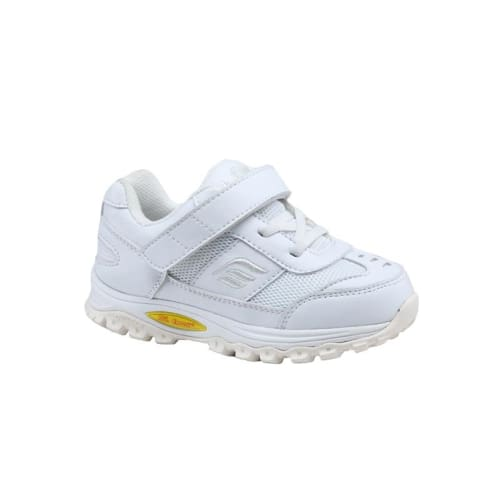 Mt. Emey 3301-3L White - Children Straight Last Athletic Shoes With Elastic Laces - Shoes