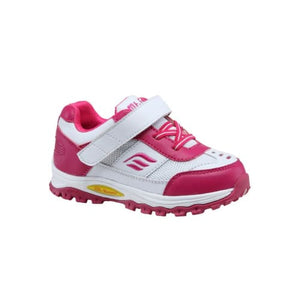 Mt. Emey 3301-5L White/rosy Red - Children Straight Last Athletic Shoes With Elastic Laces - Shoes
