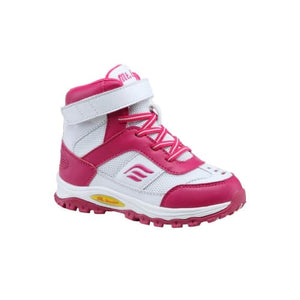Mt. Emey 3305-5H White/rosy Red - Children Straight Last Athletic Boots With Elastic Laces - Shoes
