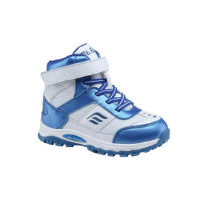 Mt. Emey 3305-6H White/navy Blue - Children Straight Last Athletic Boots With Elastic Laces - Shoes