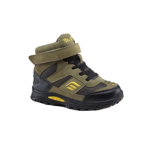 Mt. Emey 3305-7H Green/black - Earth Kids/ladies Straight Last Athletic Boots With Elastic Laces - Shoes