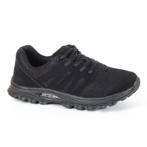 Mt. Emey 9306 Black -Womens Mesh Walking Shoes Black Lace - Shoes