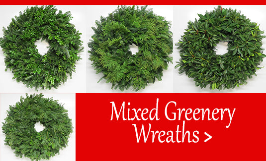 Mixed Greenery Wreaths